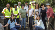 Mayor Libby Schaaf and volunteers at the 2015 Earth Day cleanup at Frog Park (photo courtesy of Ken Rice Photography)